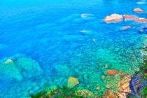 Bezaubernde Wasserlandschaft an der italienischen Riviera bei Camogli by Gina Koch