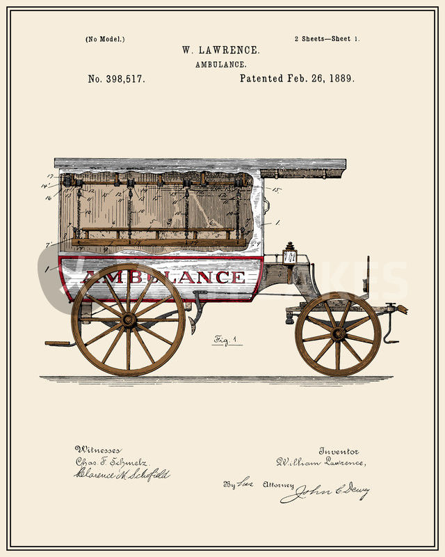 ambulance patent colour - Ambulance Pictures To Colour