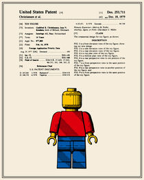 Lego Man Patent - Colour (v1) by Finlay McNevin