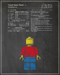 Lego Man Patent - Chalk (v1) by Finlay McNevin