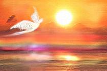 Engel im Sonnenaufgang von Karin Nessika