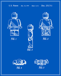 Lego Man Patent - Blueprint (v2) by Finlay McNevin