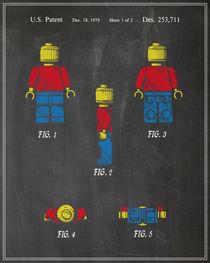 Lego Man Patent - Chalk (v2) by Finlay McNevin