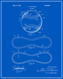 Baseball Patent - Blueprint by Finlay McNevin