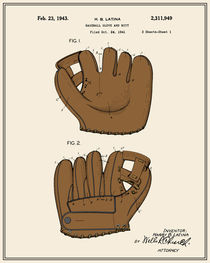 Baseball Glove Patent - Colour von Finlay McNevin