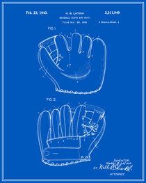 Baseball Glove Patent - Blueprint von Finlay McNevin