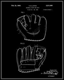 Baseball-glove-patent-black