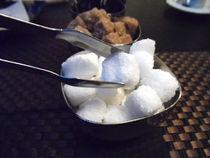 Taking a sugar cube with tweezers von Gema Ibarra
