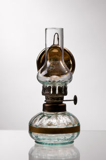 retro styled glass decorative oil lamp by Arletta Cwalina
