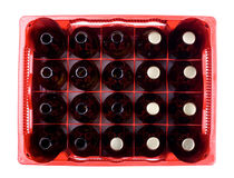 bottles of beer in crate isolated von Arletta Cwalina