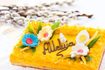 yellow decorative Easter cake by Arletta Cwalina