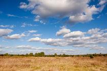 Blue sky cloudscape rural landscape by Arletta Cwalina