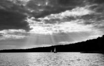 Black and white lake view by Arletta Cwalina