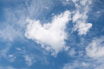 White clouds heart shape authentic von Arletta Cwalina