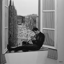 Chet Baker painting by Paul Meijering
