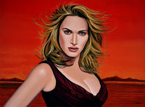 Kate Winslet painting von Paul Meijering
