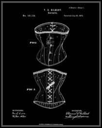 Corset Patent - Black by Finlay McNevin
