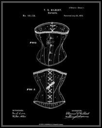 Corset Patent - Black von Finlay McNevin