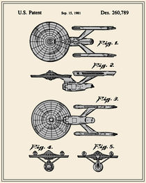 Enterprise Toy Figure Patent - Colour by Finlay McNevin
