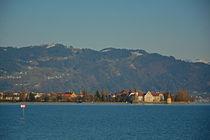 Lindau im Bodensee mit Blick auf den Pfänder von Mark Gassner