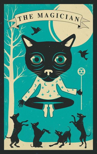 Tarot-card-cat-magician