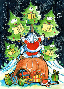 Christmas Choir - Santa and the singing trees. by Luis Peres