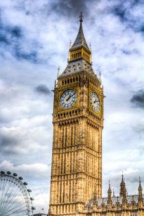 Big Ben And The London Eye by David Pyatt