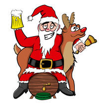 Drunken Santa Color von cvill