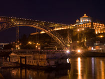 Porto Douro river night view. by a-costa