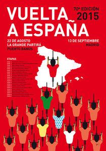 MY VUELTA A ESPANA MINIMAL POSTER ETAPAS 2015 von chungkong