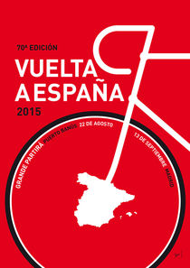 MY VUELTA A ESPANA MINIMAL POSTER 2015 von chungkong