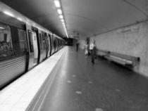 Stockholm Subway B/W by Michael Lichtenstein