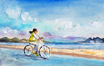 Cycling In Port De Pollenca von Miki de Goodaboom