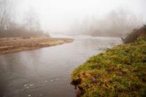 Fluss im Morgendunst von Anke Franikowski