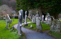 Celtic Graveyards-Glendalough by Dave  Byrne