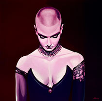 Sinead O'Connor painting by Paul Meijering