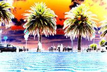 Palm Tree's and Zig Zag, Cobble lock. von Dave  Byrne
