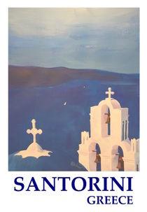 Glockenturm in Santorini Griechenland von M.  Bleichner