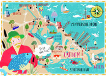 Usedom Karte by Elisandra Sevenstar