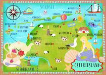 Ostfriesland Karte by Elisandra Sevenstar