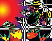 Sunset Flowers by Edward Supranowicz