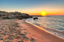 Sunset at Falassarna in Crete, Greece by Constantinos Iliopoulos