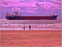 Fasziniert Containerschiff von Sandra  Vollmann