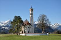 Barockkirche St. Coloman bei Neuschwanstein, Bayern by Mark Gassner