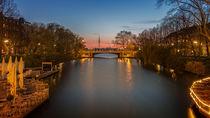 Abendrot über Hamburg von Michael Onasch