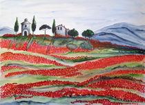 Blühende Toskana, Bluehende Toskana, Toscana von Christine Huwer