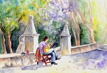 Street Musician In Pollenca von Miki de Goodaboom