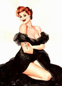black dress on me by Zinaida Vartanova
