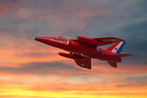 Red Arrows - Folland Gnat von Steve H Clark Photography