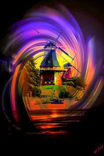 Die Greetsieler Zwillingsmühlen 2 von Walter Zettl